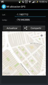 Mi ubicacion GPS poster