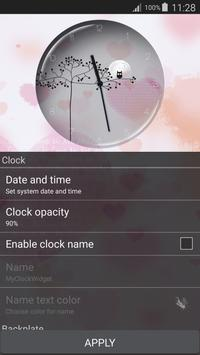 Transparent Simple Clock apk screenshot