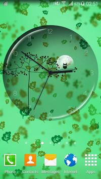 Transparent Simple Clock poster