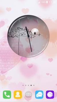 Transparent Simple Clock apk screenshot