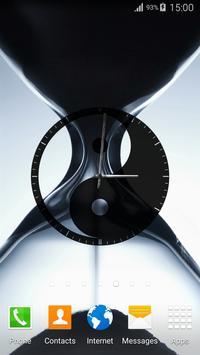 Yin Yang Clock Widget apk screenshot