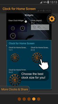 Clock for Home Screen apk screenshot