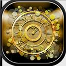 Gold Wallpaper Clock APK
