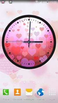 Theme Hearts Clock screenshot 12