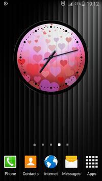 Theme Hearts Clock screenshot 13