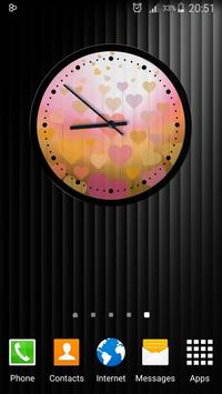 Theme Hearts Clock screenshot 15