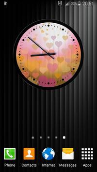 Theme Hearts Clock screenshot 2