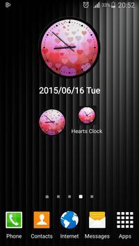 Theme Hearts Clock screenshot 5
