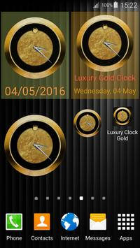 Luxury Clock Gold screenshot 10