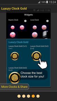 Luxury Clock Gold screenshot 11