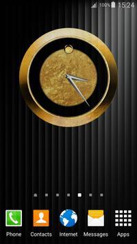 Luxury Clock Gold screenshot 1