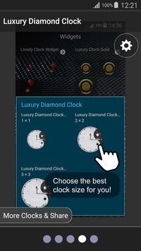 💎 Luxury Diamond Clock 💎 apk screenshot