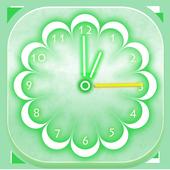 Neon Flowers Clock icon