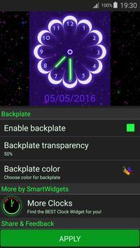 Neon Flowers Clock screenshot 14