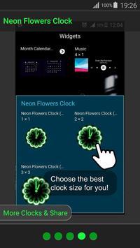 Neon Flowers Clock screenshot 23