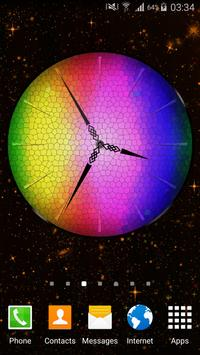 Rainbow Clock Widget poster