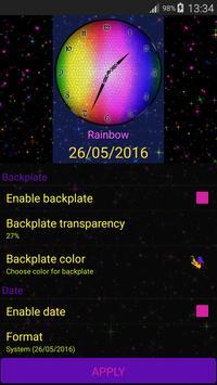 Rainbow Clock Widget apk screenshot