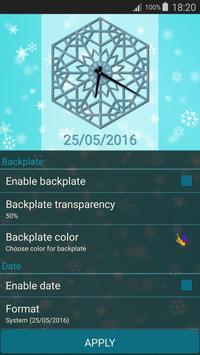Winter Clock Live apk screenshot