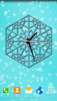Winter Clock Live apk screenshot