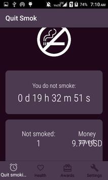 Quite Smoking poster