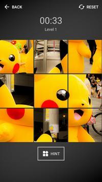 Pika Pikachu Tile Puzzle poster