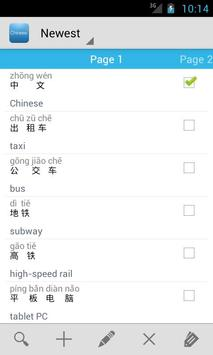 Chinese Vocabulary poster