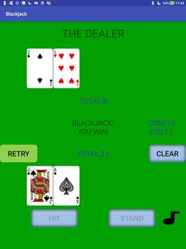 Simple Blackjack screenshot 1