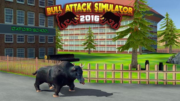 Bull Attack Simulator 2016 poster
