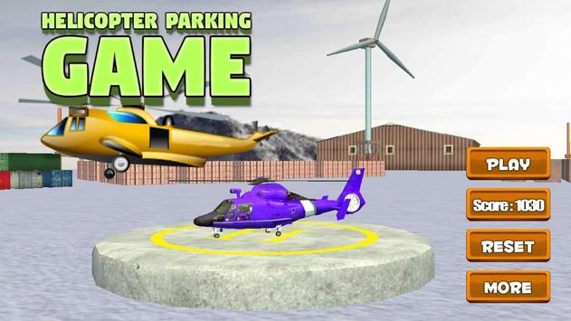 Helicopter Parking Game poster