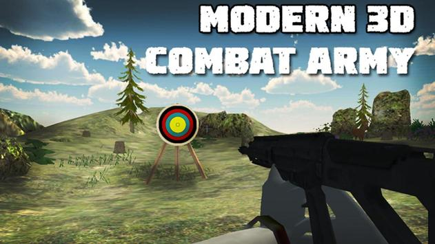 Modern 3D Combat Army poster
