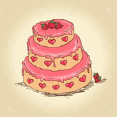lovely sweet cute cake icon