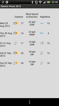 Electric Picnic 2012 Guide apk screenshot