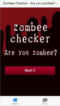 Zombee Checker ! party app. poster
