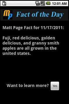 Matt Page Fact of the Day poster