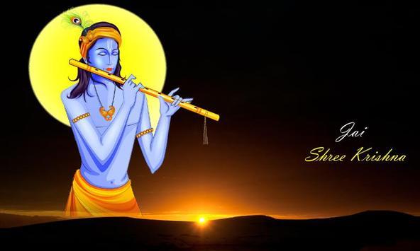 Krishna Mantra and Bhajan in Hindi poster