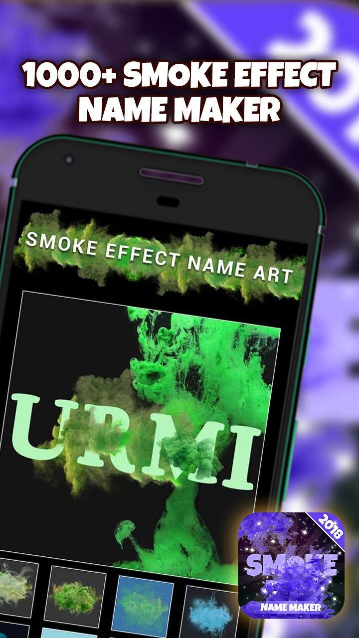 Smoke Name Effects Generator for Android - APK Download
