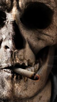 smoking skull live wallpaper poster