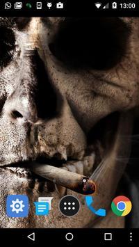 smoking skull live wallpaper apk screenshot