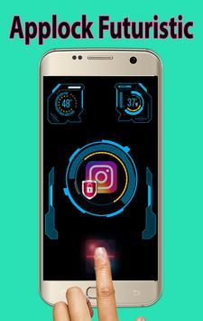 Futuristic Theme Applock poster