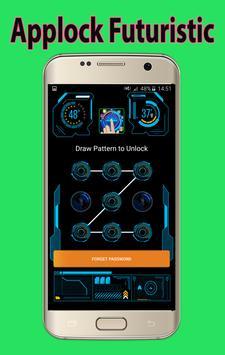 Futuristic Theme Applock screenshot 1