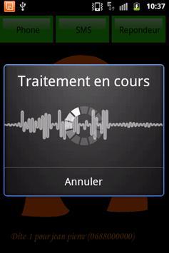 SMS parlant francais apk screenshot
