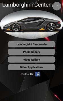 Lamborghini Centenario Car Photos and Videos poster