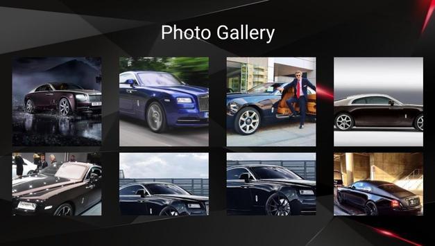 Rolls Royce Wraith Car Photos and Videos screenshot 7