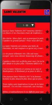SMS d'Amour pour Saint Valentin 2019 screenshot 2
