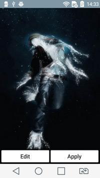 Water man live wallpaper poster