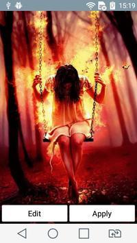 Fiery swing live wallpaper poster