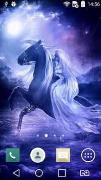 Nice horsewoman live wallpaper screenshot 1