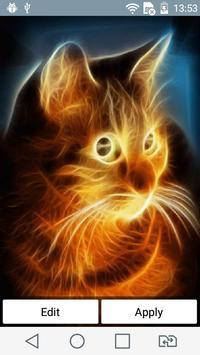Sunny cat live wallpaper poster