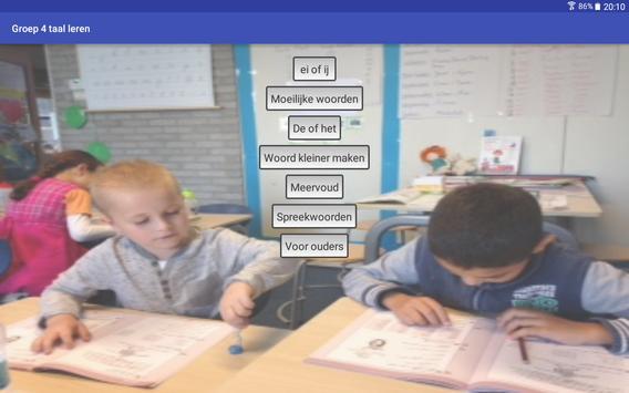 Taal leren groep 4 (gratis) screenshot 12