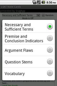 LSAT Note / Flash Cards screenshot 1